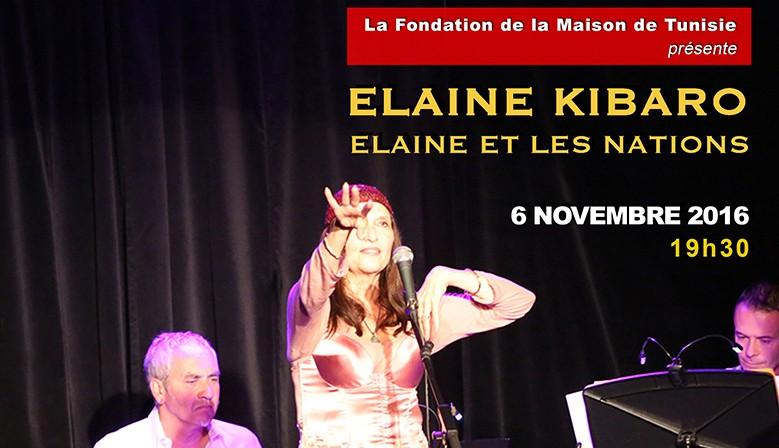 Elaine et les Nations à la Fondation de la Maison de Tunisie - Novembre 2016