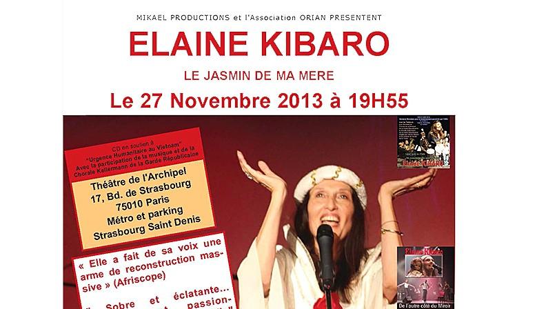 Elaine Kibaro au Théatre de l'Archipel - Novembre 2013