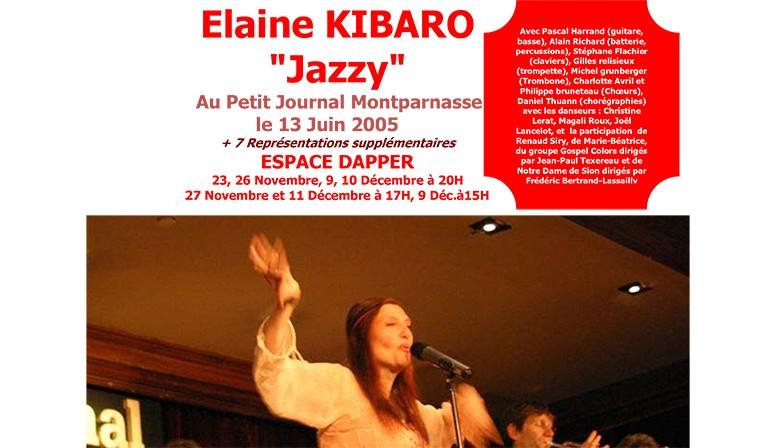 "Elaine Kibaro au ""Petit journal Montparnasse"" - Juin 2005"