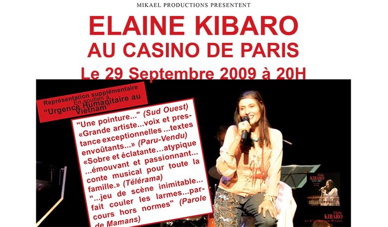 Elaine Kibaro au Casino de Paris - septembre 2009